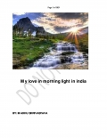 My love in morning light in india  (eBook)