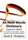 All Math Words Dictionary (Classroom PB)