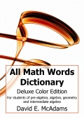 All Math Words Dictionary (Deluxe Color PB)
