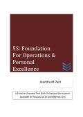 5S: Foundation for Operations & Personal Excellence