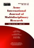 Acme International Journal [August - 2015]