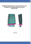 STRESS SENSITIVITY ANALYSIS OF GAS TURBINE COMPRESSOR & BLADE DOVETAIL