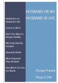 Husband or no Husband in Life