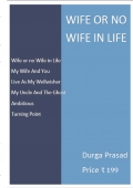 Wife or no Wife in Life