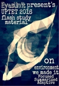 UPTET 2016 Environment Flash Book