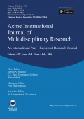 Acme International Research Journal [ June - July, 2016]
