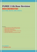 PGMEE 11th Hour Revision BIOCHEMISTRY (eBook)