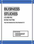 BUSINESS STUDIES CLASS XII