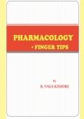 PHARMACOLOGY finger tips