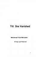 Till She Vanished