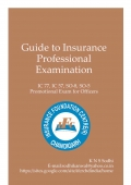 Guide To Insurance Professonal Examination
