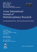 Acme International Journal : January - March, 2017