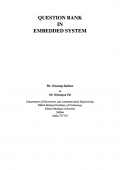 QUESTION BANK  IN  EMBEDDED SYSTEM  (eBook)