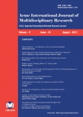 Acme International Journal of Multidisciplinary Research : August - 2017