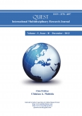 Quest International Multidisciplinary Research Journal : December - 2012