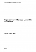 Organisational Behaviour, Leadership and Change (eBook)