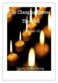 Life Changing Quotes & Thoughts (Volume 31)