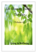 Life Changing Quotes & Thoughts (Volume 45)