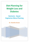 Diet Planning for Weight Loss and Diabetes