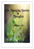 Life Changing Quotes & Thoughts (Volume 65)