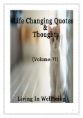 Life Changing Quotes & Thoughts (Volume 71)