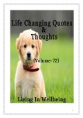 Life Changing Quotes & Thoughts (Volume 72)