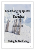 Life Changing Quotes & Thoughts (Volume 78)