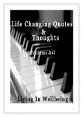 Life Changing Quotes & Thoughts (Volume 84)