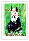 Life Changing Quotes & Thoughts (Volume 85)