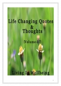 Life Changing Quotes & Thoughts (Volume 97)