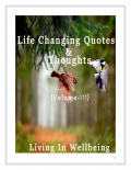 Life Changing Quotes & Thoughts (Volume 111)