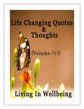 Life Changing Quotes & Thoughts (Volume 151)