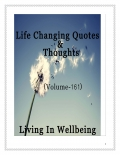 Life Changing Quotes & Thoughts (Volume 161)