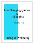 Life Changing Quotes & Thoughts (Volume 177)