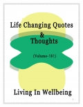 Life Changing Quotes & Thoughts (Volume 181)