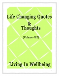 Life Changing Quotes & Thoughts (Volume 182)