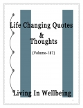 Life Changing Quotes & Thoughts (Volume 187)
