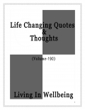 Life Changing Quotes & Thoughts (Volume 190)