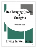 Life Changing Quotes & Thoughts (Volume 196)