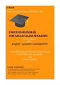 English Grammar for Malayalam Speakers