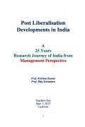 Post Liberalisation Developments in India Vol. I-V (eBook)