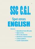 SSC C.G.L.  Spot Errors - English