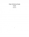 10 Science Study Guide  (eBook)