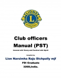 Club officers Manual of Lions Clubs International