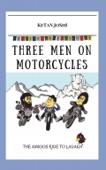 Three men on motorcycles