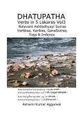 Dhatupatha Verbs in 5 Lakaras Vol3