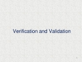 Verification And Validation in Software Testing