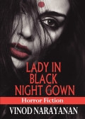 The lady in black night gown