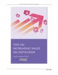 Tips on Increasing Sales On Instagram
